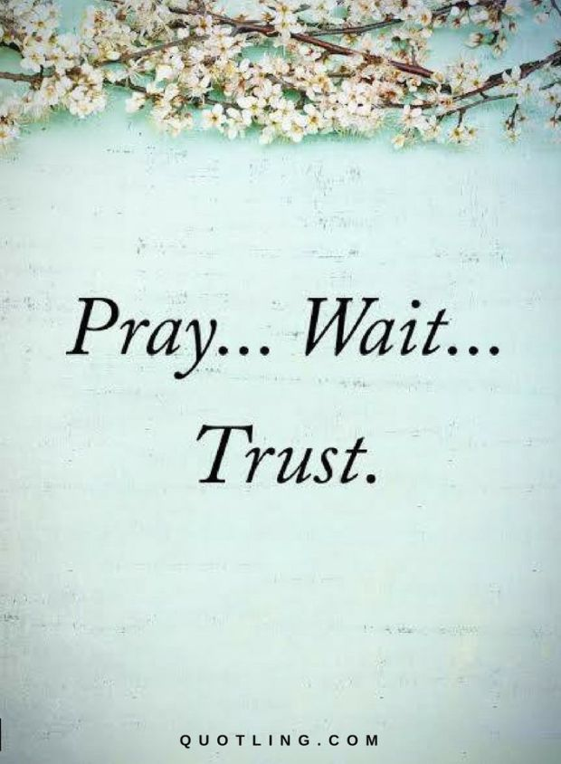 Quotes Pray ... Wait ... Trust.